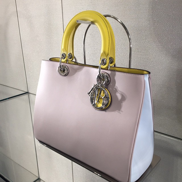 Diorissimo Tricolor Yellow/Pink Bag - Spring 2015