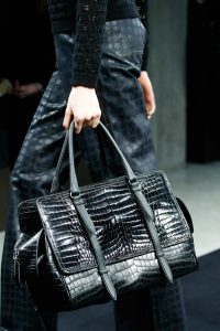 Bottega Veneta Black Crocodile Top Handle Bag 3 - Fall 2015