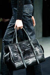 Bottega Veneta Black Crocodile Top Handle Bag 3 - Fall 2015