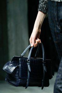 Bottega Veneta Blue Crocodile Top Handle Bag - Fall 2015