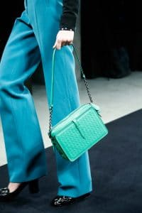 Bottega Veneta Green Intrecciato Shoulder Bag - Fall 2015