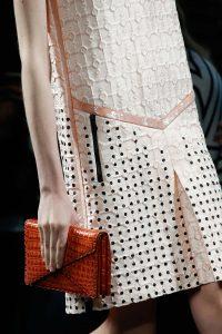 Bottega Veneta Orange Crocodile Envelope Clutch Bag - Fall 2015