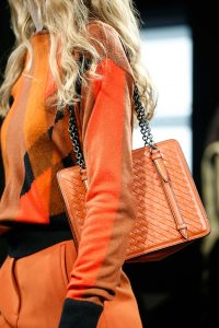 Bottega Veneta Orange Intrecciato Shoulder Bag - Fall 2015