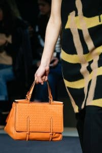 Bottega Veneta Orange Intrecciato Top Handle Bag - Fall 2015