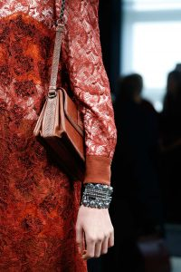 Bottega Veneta Red Crocodile Flap Bag - Fall 2015