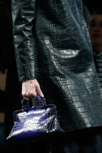 Bottega Veneta Violet Ombre Crocodile Top Handle Bag - Fall 2015
