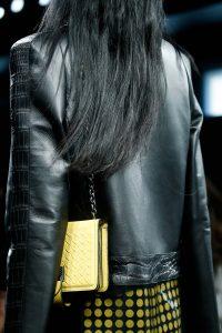 Bottega Veneta Yellow Intrecciato Flap Bag - Fall 2015