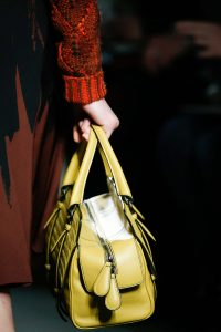 Bottega Veneta Yellow Intrecciato Top Handle Bag - Fall 2015