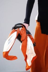 Celine Black Leather Net Handbag 2 - Fall 2015 Runway