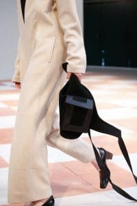 Celine Black with Pocket Crossbody Bag - Fall 2015 Runway