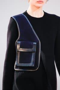 Celine Blue with Pocket Crossbody Bag - Fall 2015 Runway