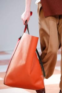 Celine Orange Large Tote Bag - Fall 2015 Runway