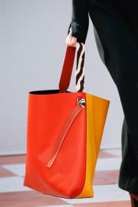 Celine Orange/Yellow Large Tote Bag - Fall 2015 Runway