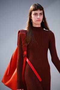 Celine Red Large Tote Bag - Fall 2015 Runway