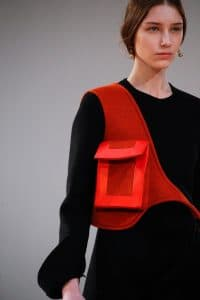 Celine Red with Pocket Crossbody Bag 2 - Fall 2015 Runway