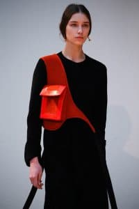 Celine Red with Pocket Crossbody Bag - Fall 2015 Runway