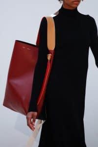 Celine Red/Black Large Tote Bag 2 - Fall 2015 Runway