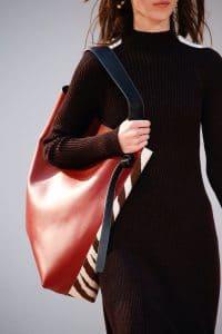 Celine Red/White/Brown Zebra Print Large Tote Bag - Fall 2015 Runway