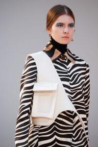 Celine White with Pocket Crossbody Bag - Fall 2015 Runway