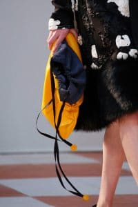 Celine Yellow Clutch Bag with Drawstring Top 2 - Fall 2015 Runway