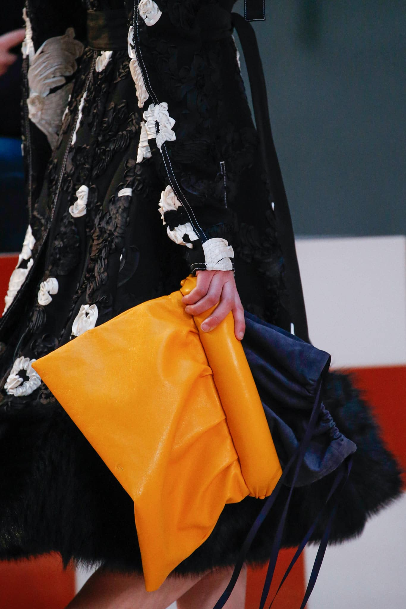 celine orange clutch bag