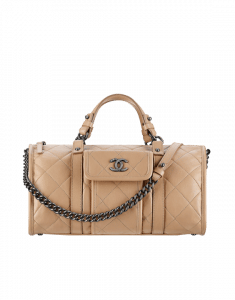 Chanel Beige Bowling Bag - Spring 2015 Act 2