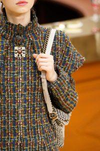 Chanel Beige/Black Houndstooth Print Shoulder Bag - Fall 2015 Runway