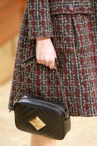 Chanel Black Chevron Camera Case Bag - Fall 2015 Runway