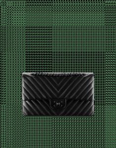 Chanel Black Chevron Medium Flap Bag - Spring 2015 Act 2
