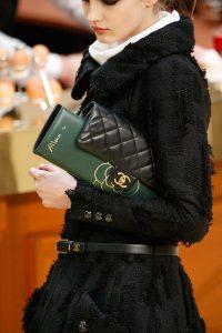 Chanel Black Flap with Green Clutch Bag - Fall 2015 Runway
