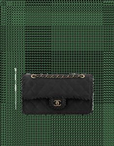 Chanel Black Velvet Calfskin Flap with Interlaced Trim Bag - Spring 2015 Act 2