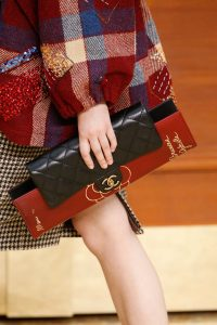 Chanel Black Flap with Red Clutch Bag - Fall 2015 Runway