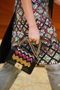 Chanel Black Multicolor Mosaic Boy Bag - Fall 2015 Runway