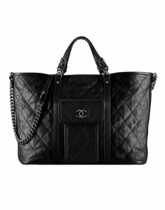 Chanel Black Tote Large Bag - Spring 2015 Act 2