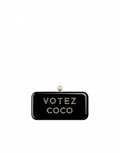 Chanel Black Votez Coco Evening In The Street Bag - Spring 2015 Act 2