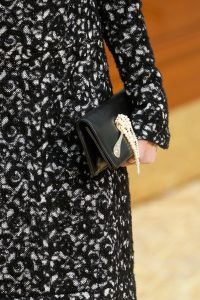 Chanel Black with Spoon and Pearls Clutch Bag - Fall 2015 Runway