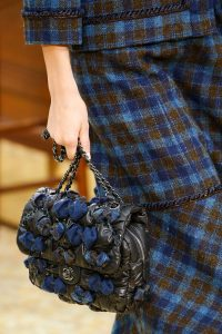 Chanel Black/Blue Puffed Flap Bag - Fall 2015 Runway