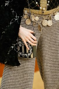 Chanel Black/Gold 5 Mosaic Embellished Clutch Bag - Fall 2015 Runway