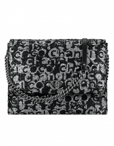 Chanel Black/Grey Painted Tweed Satchel Couture Bag - Spring 2015 Act 2