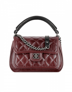 Chanel Burgundy Quilted Flap with Rigid Handle Bag - Spring 2015 Act 2