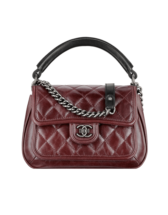 74ca6ea257b9 Chanel Burgundy Quilted Flap with Rigid Handle Bag - Spring 2015 Act 2