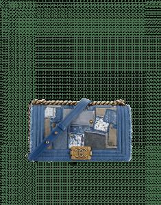 Chanel Denim Patchwork Boy Medium Bag - Spring 2015 Act 2