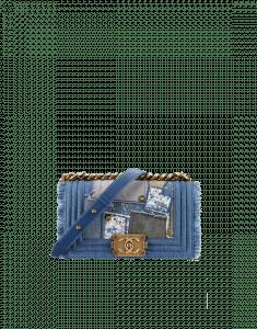 Chanel Denim Patchwork Boy Small Bag - Spring 2015 Act 2