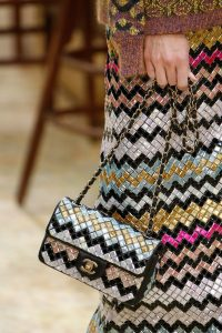 Chanel Gold/Black/Silver Mosaic Flap Bag - Fall 2015 Runway