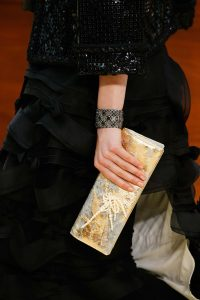 Chanel Gold/Silver with Fork and Pearls Clutch Bag 2 - Fall 2015 Runway