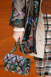 Chanel Green Multicolor Mosaic Flap Bag - Fall 2015 Runway