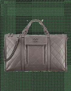 Chanel Grey Large Bowling Bag - Spring 2015 Act 2