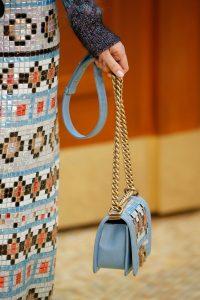 Chanel Light Blue Mosaic Boy Bag - Fall 2015 Runway