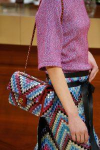 Chanel Pink/White/Blue Mosaic Flap Bag - Fall 2015 Runway