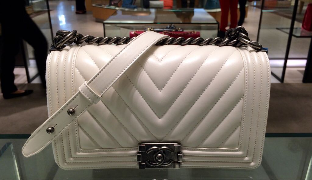 7c5bbb6a496 Chanel Boy Chevron Flap Bags for Spring   Summer 2015   Spotted Fashion